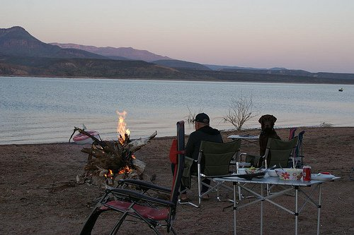 Boondocking at Roosevelt Lake