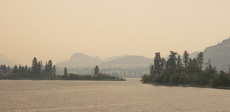 Smoky Day on Vaseux Lake